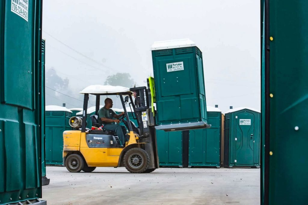 Forklift Porta Lifted
