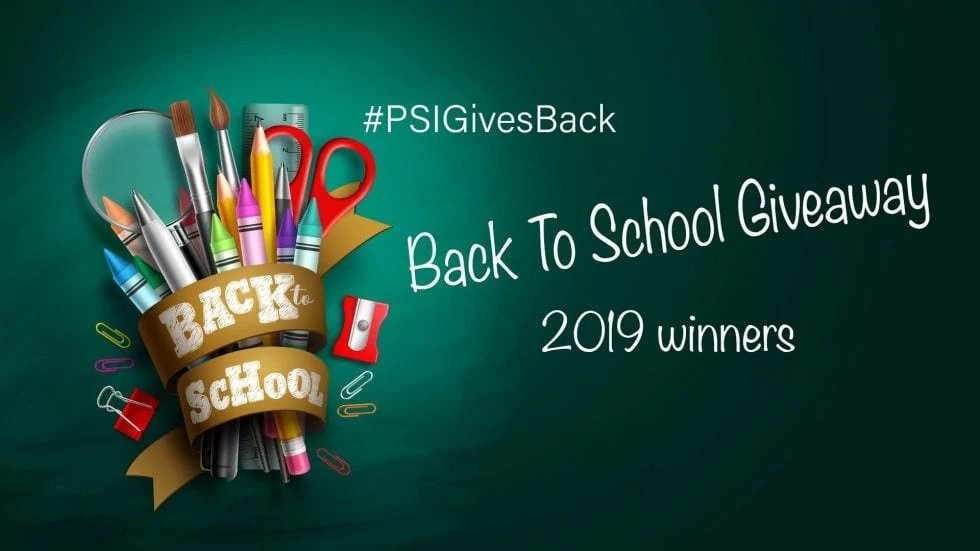 Winner's of the Back to School Contest Announced
